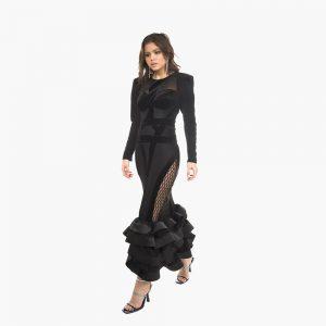 Rochie midi Valentina din fibra naturala vitoria